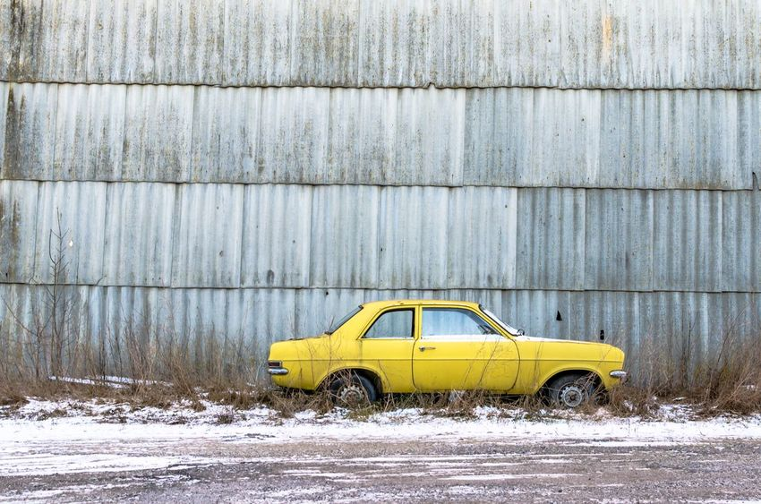 """""""There's no such thing as ruining your life. Life's a pretty resilient thing, it turns out."""" An old abandoned Vauxhall Viva family car and derelict building by a snowy road. Yellow Car Neglected Icy Road Frost Derelict Old Old Car Nobody Winter Wall Side View Vehicle Street Street Photography Snowfall Snowy Abandoned Car Abandoned & Derelict Abandoned Abandoned Places Yellow Car Outdoors Snow No People Day"""