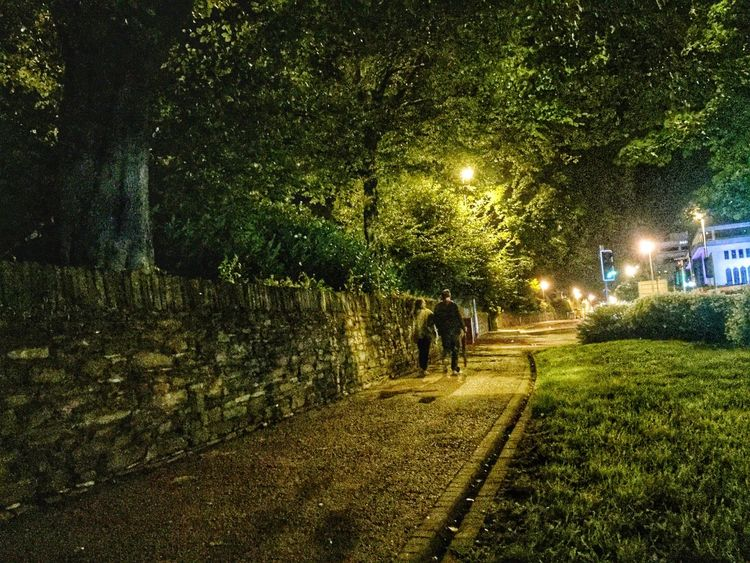 Night Walking Couple