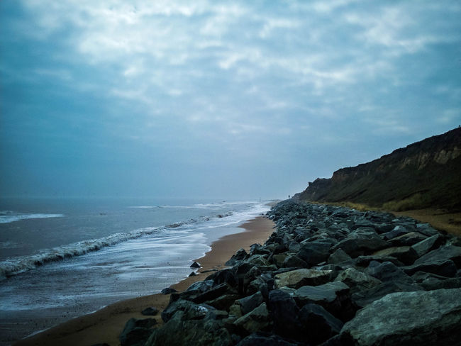 Beach Photography Beach Beauty In Nature Cloud - Sky Coastal Defences Day Horizon Horizon Over Water Land Landscape Nature No People Outdoors Rock Rock - Object Rocky Coastline Scenics - Nature Sea Sky Solid Tranquil Scene Tranquility Water Wave