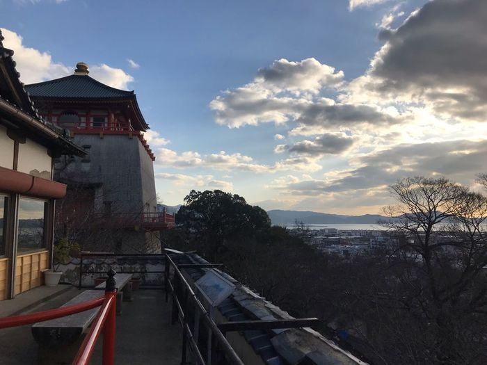 kimii temple Temple Sky Cloud - Sky Built Structure Architecture Building Exterior Tree Nature Day No People Sunlight Travel Outdoors