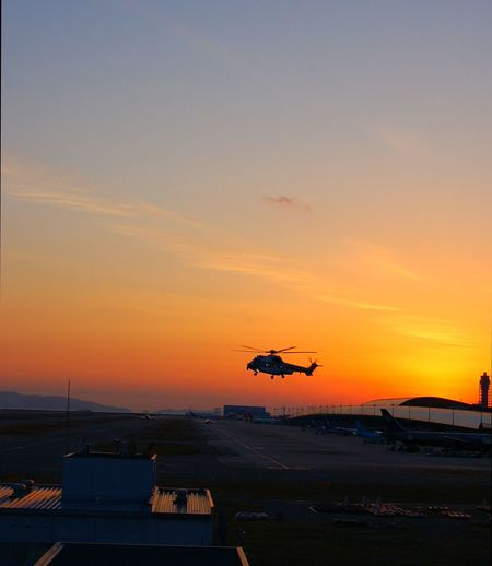 Sunset Airport Helicopter Aeropuerto Anochecer 43 Golden Moments Colour Your Horizn