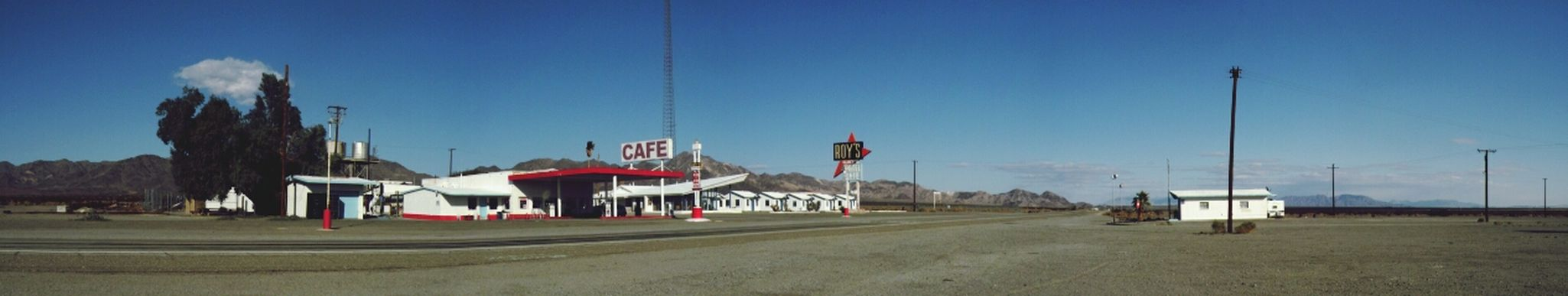 Amboy, on old 66 in the California Outback. Amboy Route 66 California Desert Panorama