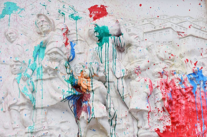 Showcase: May Protests Coloring Monuments Justice Freedom Protests In Macedonia Colorful Revolution Protesting Macedonia The Photojournalist - 2016 EyeEm Awards Resist