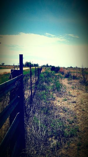 Fence Dirt Road