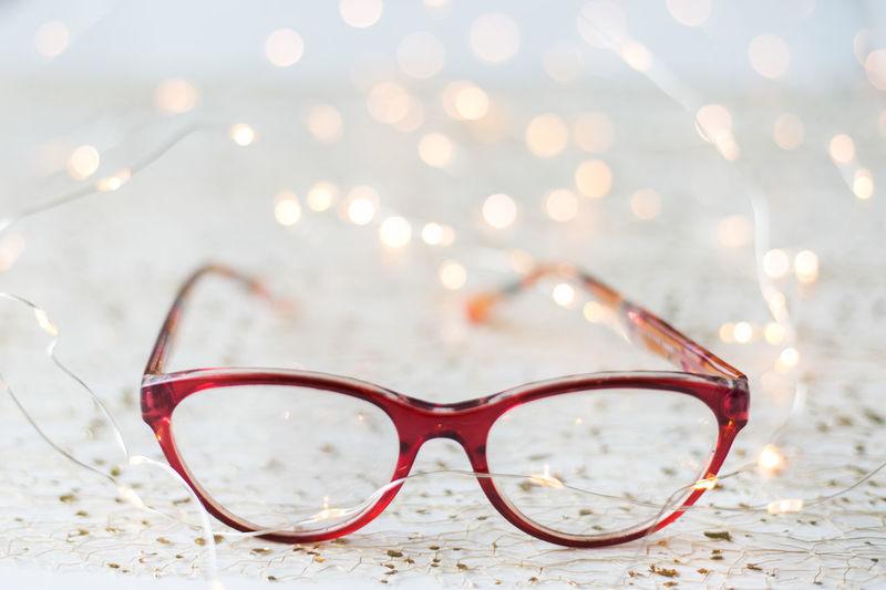 Box and eyeglasses Christmas Lights Eye Glasses Fashion Glasses Modern Backgrounds Close-up Day Design Desıgn Detail Eye Eyeglasses  Eyeglasses Box Eyesight Frame Object Vision Watching
