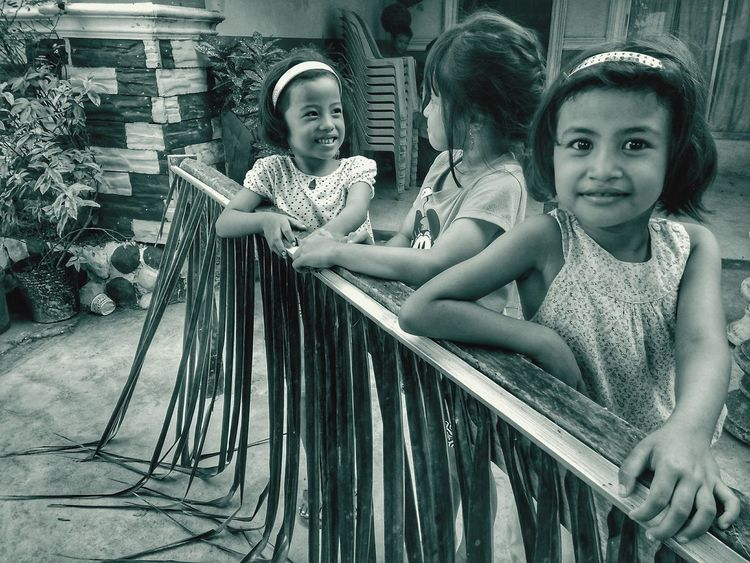 Cousins Child Portrait Childhood Smiling Togetherness Friendship Happiness Bonding Sitting Girls EyeEmNewHere
