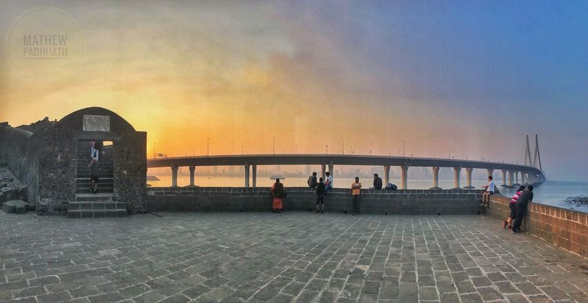 A fort with a view Fortress Modern Architecture Sea Link Mumbai Mumbai Water Sea Sky Beach Built Structure Horizon Over Water Outdoors Nature Men Architecture Beauty In Nature Adult Women Real People People Adults Only Day City