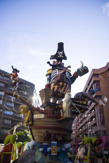 Architecture Building Exterior City Cultures Day Europe, Fallas 2017 Fallasunesco Human Representation Low Angle View No People Outdoors Sculpture Sky Statue Travel Destinations Valencia, Spain