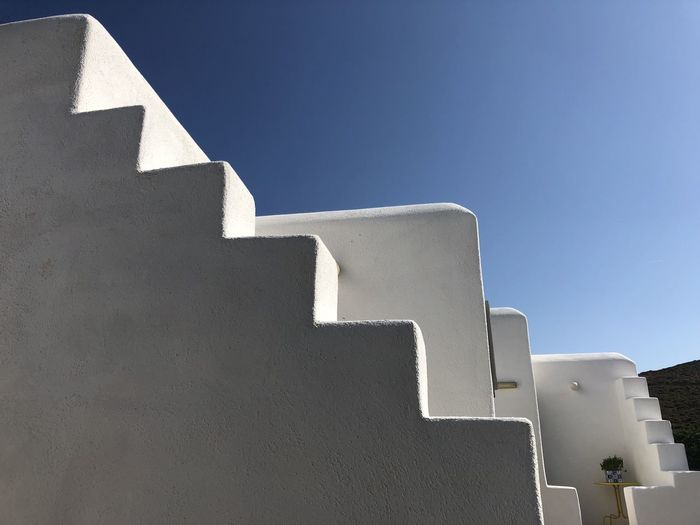 Naxos house Architecture Blue Building Building Exterior Built Structure Clear Sky Day Low Angle View Nature No People Outdoors Shadow Sky Sunlight Sunny Wall Wall - Building Feature White Color #urbanana: The Urban Playground
