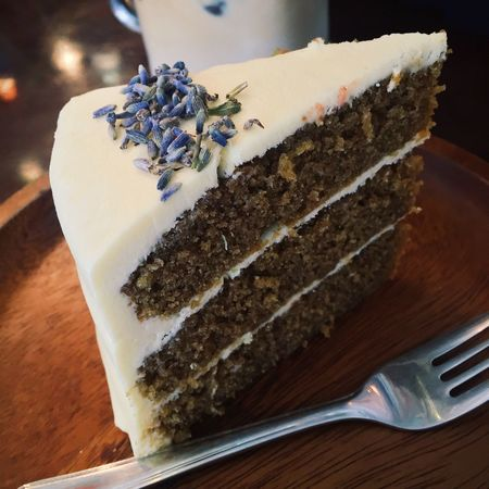 Lavender Earl Grey Cake Food And Drink Food Plate Table Dessert Indulgence Still Life Sweet Food Cake Freshness Ready-to-eat Indoors  Serving Size Close-up No People SLICE Temptation Fork Brown Bread Day Singapore