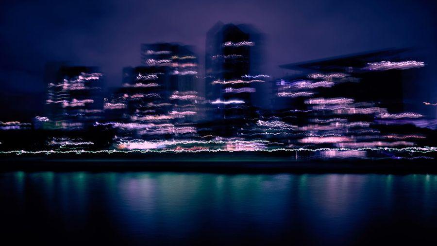 Sydney Harbour  Illuminated Waterfront Night No People Sonyrx100v Long Exposure