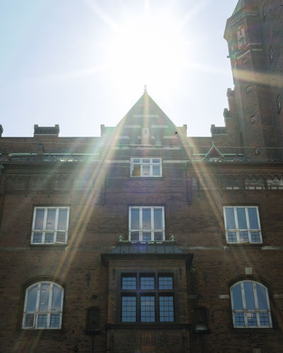 Architecture Bright Building Building Exterior Built Structure City Copenhagen Day History Lens Flare Low Angle View Nature No People Outdoors Residential District Sky Sun Sunbeam Sunlight Sunny The Past Window
