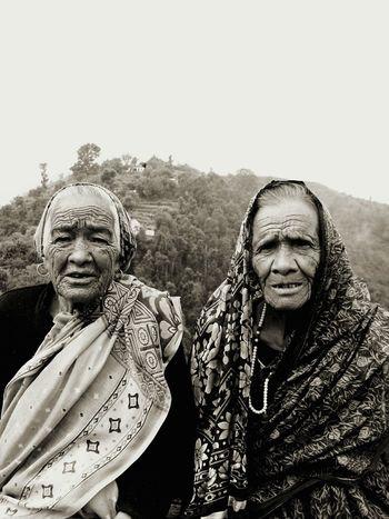 People India Family Friends Garhwal, Himalayas Yudhvir B&W Portrait