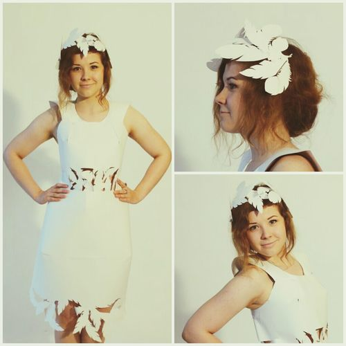 My dress-bird from white paper :3 And beautiful model Anastasia :) Model My Style Fashion Photography New Dress! By Ctrayfi