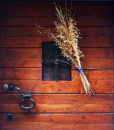Wooden door with fascinating herbs Herbs Close-up Day Door Door Lock Fascinating Nature No People Outdoors Wood - Material Wooden Door