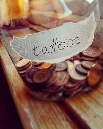 Tattoo money jar :) Tattoos Tattoo Moneyjar Money Coins Pennys Tattoomoney Grunge Tumblr Tumblrgirl Grungegirl Change Sparechange Alternative Alternativegirl Alternativemodel Goth Gothicgirl Skater Ink Inked