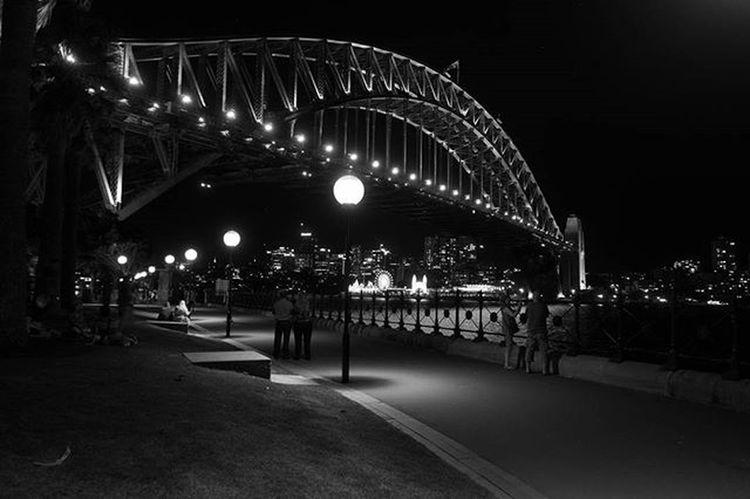 SydneyHarbourBridge Sydney Australia Landscape Cityscapes Sonyrx100iv Lightroom Travelgram Photos Photooftheday Blackandwhitephoto Nightphotography