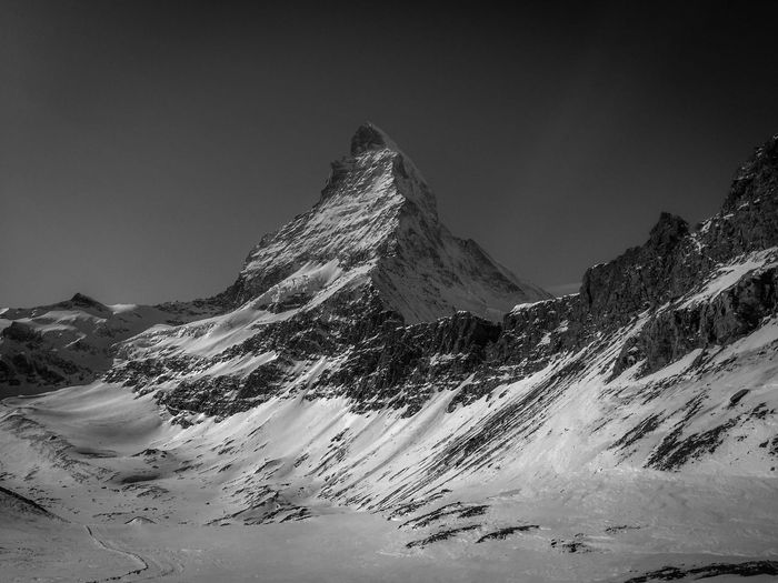 The Legend of Switzerland 🇨🇭 Snowscape Landscape Monochrome _ Collection Monochromatic Monochrome Photography Monochrome Black & White Black And White Blackandwhite Matterhorn Zermatt Matterhorn  EyeEm Nature Lover EyeEm Selects Mountain Snow Nature Tranquility Scenics Tranquil Scene Cold Temperature Beauty In Nature Winter Snowcapped Mountain Mountain Range Outdoors Day Mountain Peak No People Sky Clear Sky The Great Outdoors - 2019 EyeEm Awards