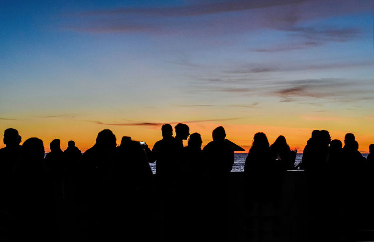Hello World Nature Taking Photos Relaxing EyeEm Best Shots Large Group Of People Manifestation Ostia Outdoors People Real People Silhouette Sky Sunset Orange Color
