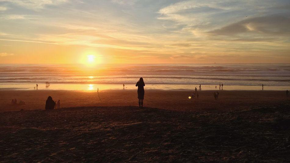 Noriega Ocean Beach San Francisco Sunset Silhouette