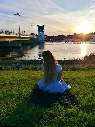 Summer memories. Only Women Water Outdoors Sky Adult Sunlight Adults Only People One Woman Only Grass Sunset Nature Day One Person