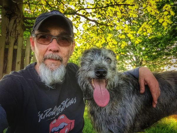 That's Me Enjoying Life I Love My Dog LEO... The One Eyed Lurcher... Lurcher Sighthound Bushy Park