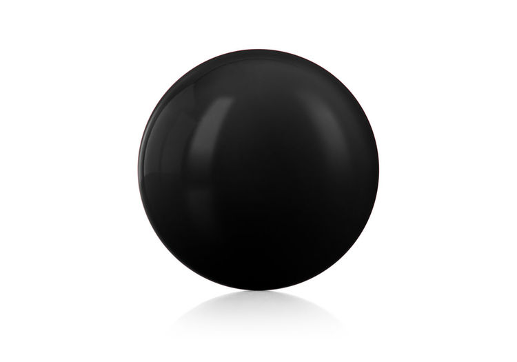 High angle view of ball on white background