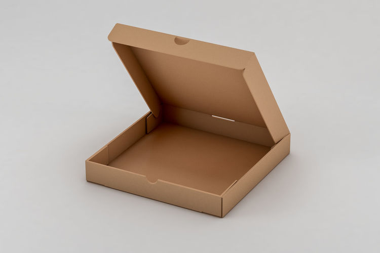 High angle view of box on white background