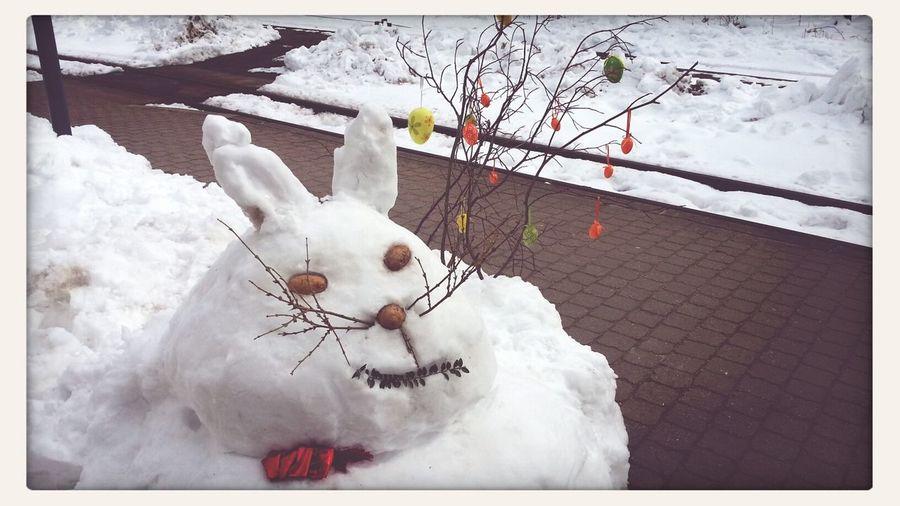 Winter Ostern Naht Unaufhaltsam ... Easterbunny Frosty The Snowman