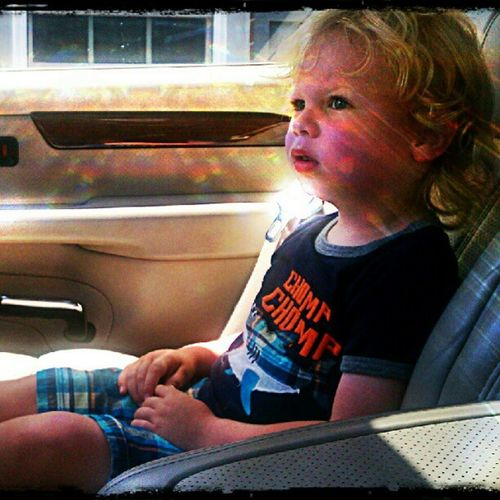 Post-Nap Activity...listening to Zacbrownband in Daddy Caddy