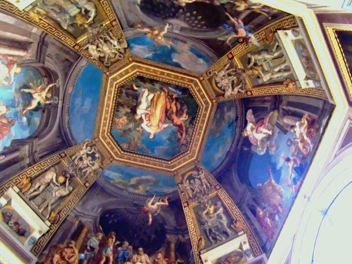 Beautiful ceiling! Architecture Museum Art Ceiling Up Travel RePicture Travel Traveling Traveleurope Europe Beautiful Lumix GM1