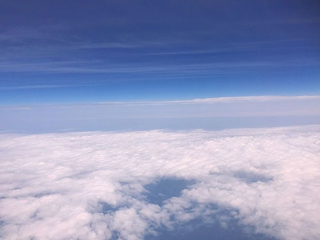 The Great Outdoors - 2017 EyeEm Awards Nature Beauty In Nature Cloud - Sky Tranquility Scenics Sky Blue Tranquil Scene Aerial View No People Sky Only Outdoors Day The Natural World Backgrounds Space Landscape From An Airplane Window Airplane Blue Sky And White Clouds The Great Outdoors - 2017 EyeEm Awards