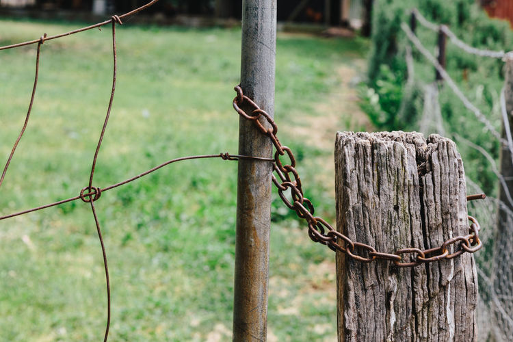 Agriculture Australia Barbed Wire Close-up Day Farm Farm Fence Farming Fence Focus On Foreground Nature No People Outdoors Protection Rural Tree Wooden Post