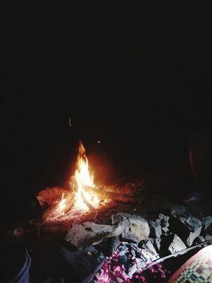 Night Burning No People Outdoors Illuminated Sky
