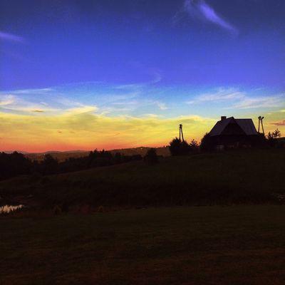 Yesterday's sunset in Polańczyk in Poland Iphone5s IPhoneography Lubiepolske Bieszczady Polska Gory Mountains