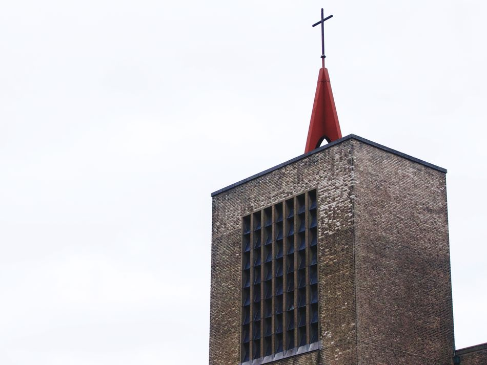 Modern church tower Tower Church Building Exterior Architecture Built Structure No People Day Low Angle View Outdoors Clear Sky Sky