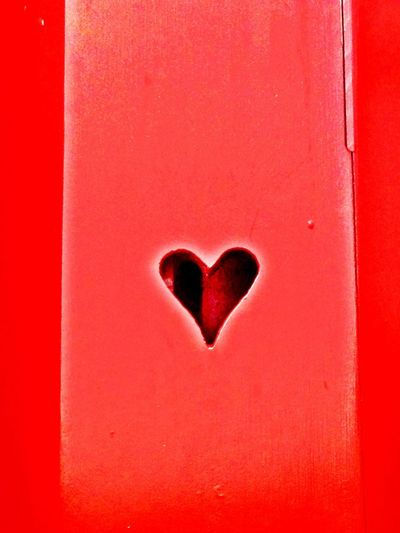 Close-up of red heart shape