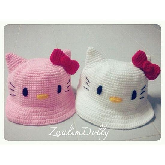 หมวก หมวกไหมพรม Kitty คิตตี้ crochet hat handmade zaalimdolly