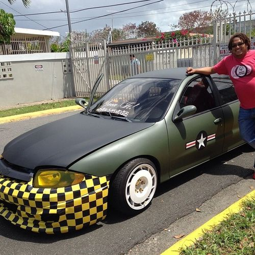 """With my """"P51 Mustang Airplane"""" themed Chevy Cavalier P51 Mustang Airplane Theme chevy cavalier chevrolet car autoshow showcar"""