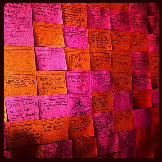 WallOfStrength OneBillionRising Messages Opinions Fightforwoman bandra pink orange