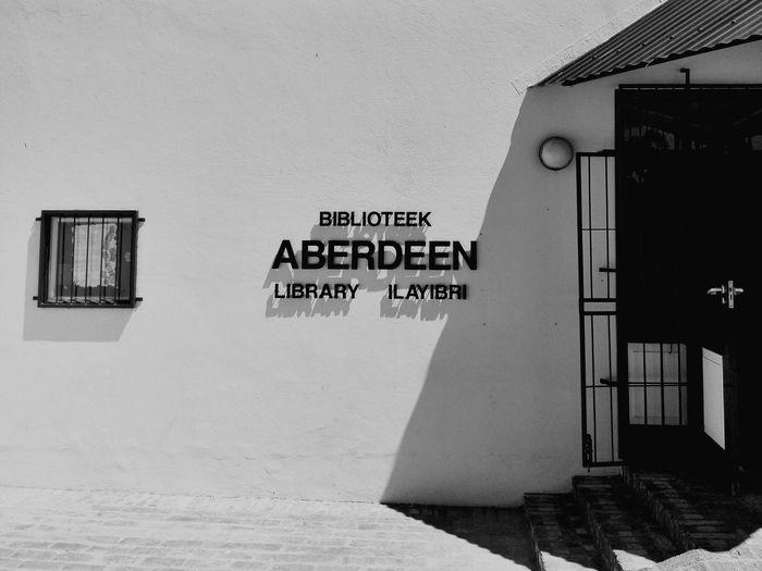 Town library. Aberdeen Kleinkaroo Karoo Karoospaces Blackandwhite Southafrica Smalltown Shadesofgrey