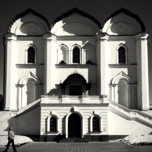 Kazan Russia Kremlin Sunny Day Slavic Orthodoxy Church Architecture EyeEm Best Shots - Black + White Black And White Photography