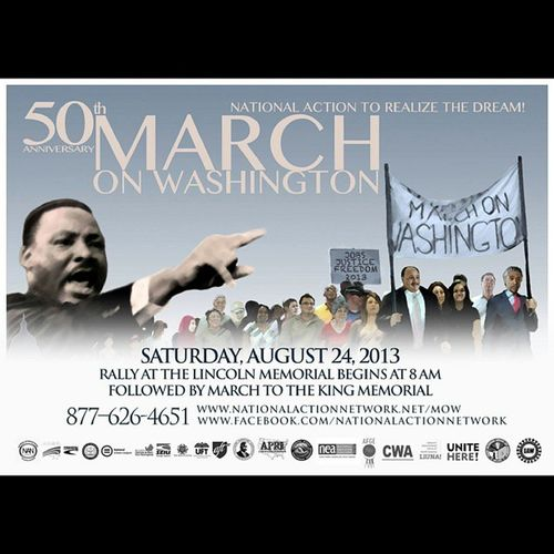 Who's going tomorrow? 50thAnniversaryMarchOnWashington