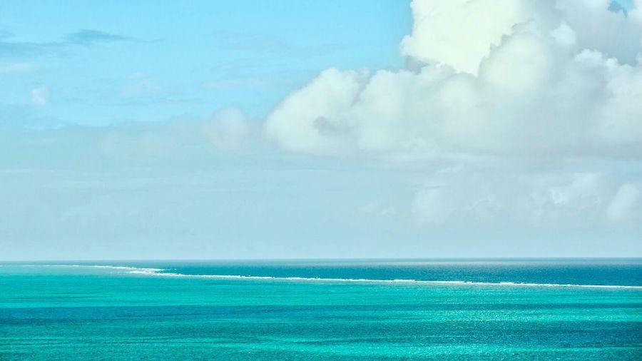 Caribbean Ocean Water Sky Tranquility Reef Turquoise Water Blue Sky Sand FishEyeEm Beach Wave Vacations Cloud - Sky Snorkeling Diving Turks And Caicos
