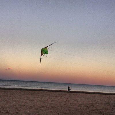 Playa Beach Arena Sand Mar Sea Cielo Sky Cometa Comet Springmycity Valenciagram