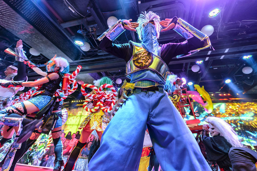 Performance at the Robot Restaurant Adult Adults Only Colorful Colourful Crowd Dance Fun Headwear Indoors  Indoors  Kabukicho Men Music People Performance Performer  Robot Restaurant Shinjuku Stage - Performance Space Stage Light An Eye For Travel HUAWEI Photo Award: After Dark