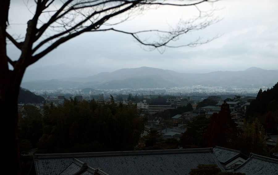 Architecture Beauty In Nature Building Building Exterior Built Structure Cloud - Sky Day Environment High Angle View Kyoto Landscape Mountain Mountain Range Nature No People Outdoors Plant Scenics - Nature Sky Tranquil Scene Tree