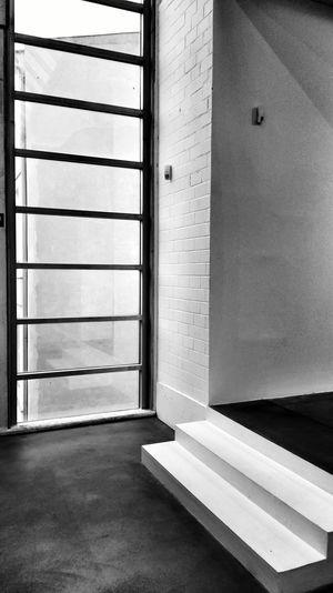 Black And White Large Windows Art Gallery Minimalism