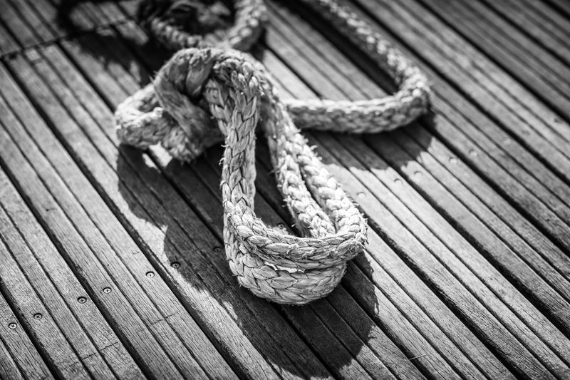 Rope Rope Strength No People Taranto Wood - Material Tied Up Tied Knot Plank Outdoors Deck Jetty Wharf Day B&w Seaside Fishing Italy