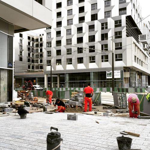 chantier coloré Chantier Couleur Ouvrier Paris Rue Travail Architecture